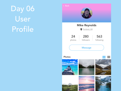 Day 6 - User Profile