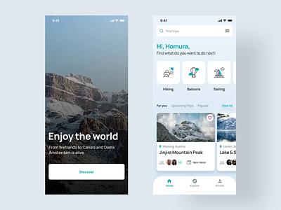 Travel App UI & Interaction Design animation uxdesign uidesign tour travel app hire creative designer clean minimal interface ux design ui