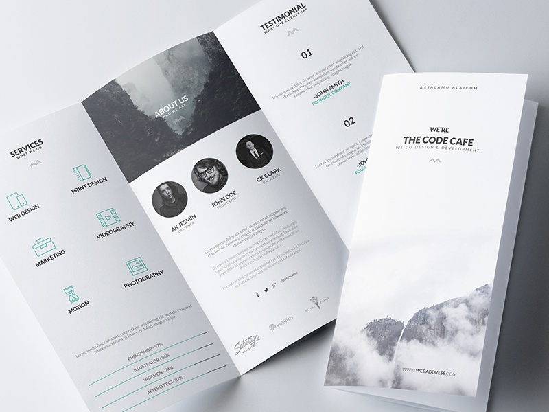 Minimal Brochure Template By Abdullah Noman Dribbble