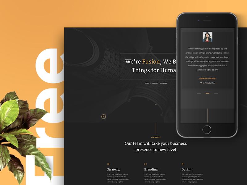 Fusion – Free Portfolio Template (HTML5) by Abdullah Noman - Dribbble