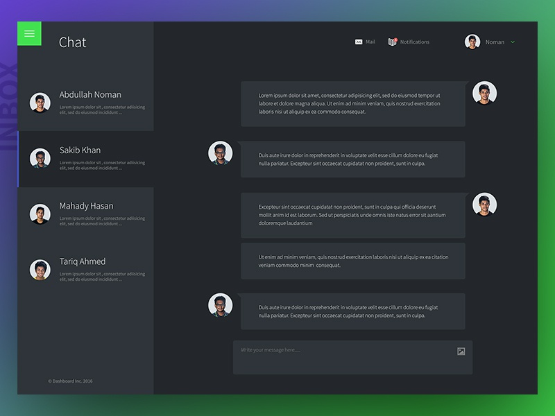 Chatbox for business dashboard template by abdullah noman dribbble dribbble shot 02 friedricerecipe Choice Image
