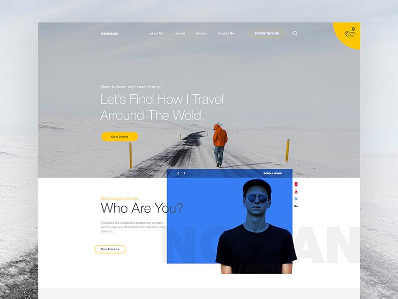 Personal Blog Page Design (Landing)
