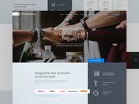Dropbox Business Landing Page Design Concept