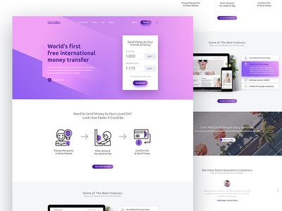 Payment Gateway Website - Landing Page Design