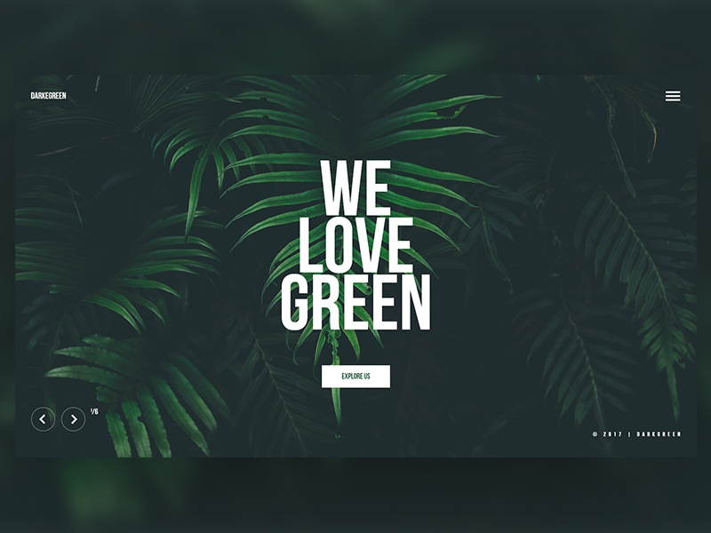 Daily Shot 3 forest clean minimal green ui ux uidesign interface travel landing page