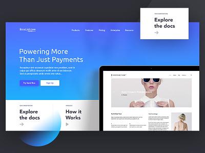 Planning to redesign Braintree designer design hire minimal visual landing page ux ui payment