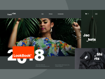 Frank +Oak eShop Design Concept with New Header Trend