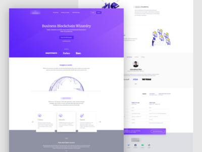 Blockchain Wizard Platform Landing Page