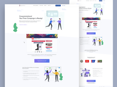 iSupportCause Lading page Redesign typography redesign visual app page landing page hire landing creative designer web minimal clean interface design ux ui