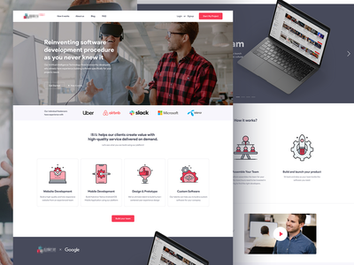 Landing Page re Design for Brix sketch photoshop top dribbble airbnb google uber virtual reality artificial intelligence ai illustration website design human centered creative designer hire marketplace website landing page design landing page