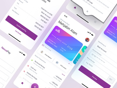 Financial Mobile Wallet App Redesign creative hire user experience user interface send money money payment card iphone x redesign wallet finance ios app clean ux minimal interface design ui