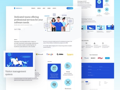 Landing Page Design landing page artificial intelligence ai blockchain web app illustraion illustrator hire landing creative designer clean web minimal interface ux design ui