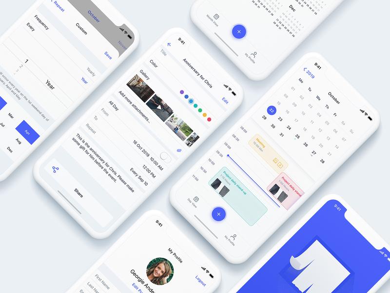 Event App Design ios event app media schedule calendar event app creative designer minimal interface ux design ui