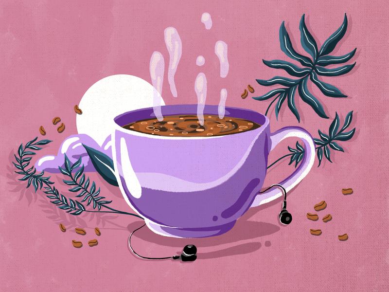 Coffee artwork pixel digitalillustration digital 2d digital art illustration design