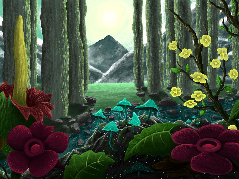 Selvátika design digital art digital 2d background art pixel illustration