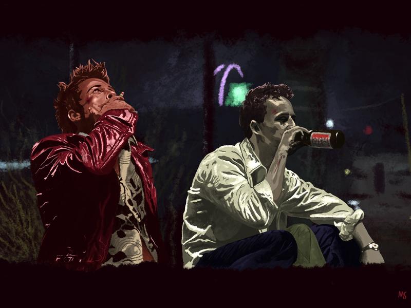 Fight Club (1999) movie art movie fightclub illustration design digitalillustration digital art