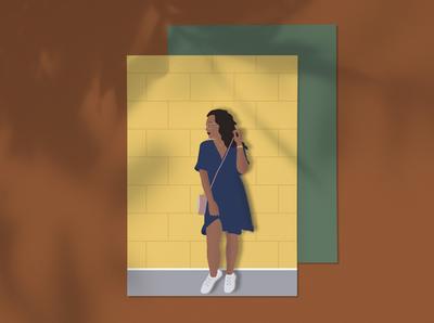 illustration   curly girl