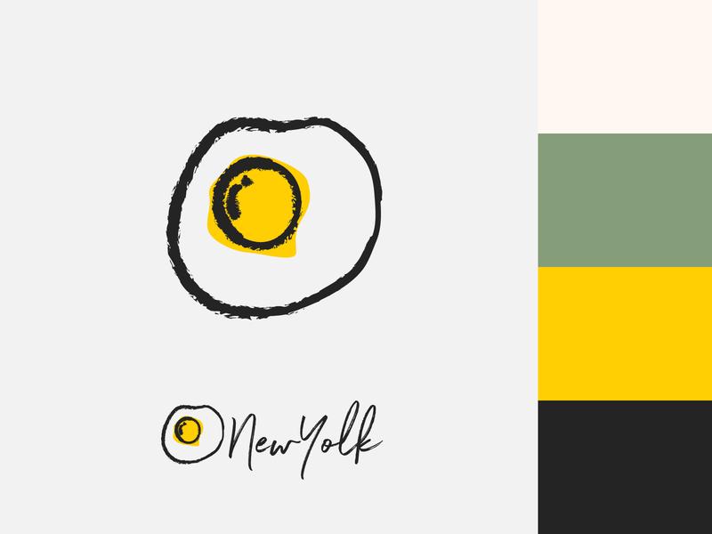 New Yolk Branding art vector flat icon design type typography minimal logo branding