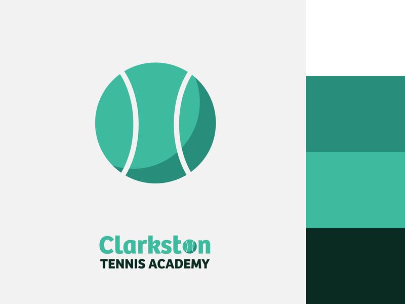 Clarkston Tennis Academy Branding art vector typography type minimal logo icon flat design branding