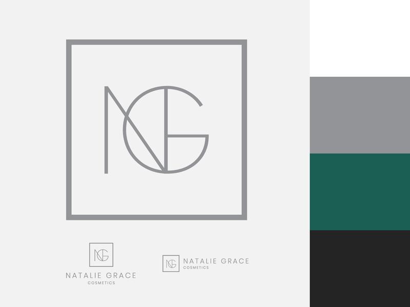 Natalie Grace Branding vector design art flat minimal typography type logo branding