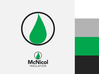 McNicol Insulation Branding Project leaf flame circle simple insulation environmental heating industry construction type icon vector typography logo branding art minimal flat design