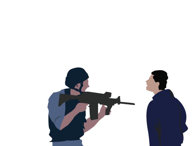Shoot Me? blacklivesmatter noracist poster weapon fight night universe abstract dark vector black war background vector illustration illustration illustrator