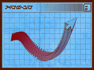 Click future logo vector grid trail design graphic art texture paper cursor typography future