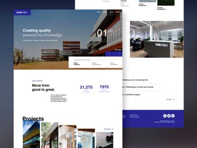EXH Architecture Website