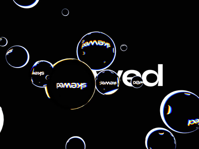 Displacement text experiments typeface cinema4d animation luminescent skewed branding octane c4d