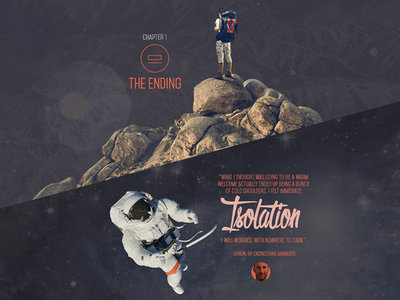 Story-telling minisite concept story ending isolation space mountains minisite web site www