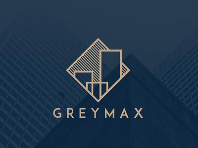 Greymax London Logo building city london residential property luxury logo investment gold branding brand