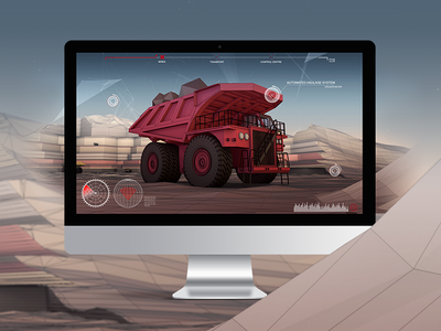 Rio Tinto 'Mine of the Future' Interactive Concept low poly hotspot technology 3d interface interactive ui