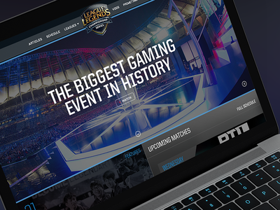 """The Biggest Gaming Event in History"" - LoL E-Sports concept"
