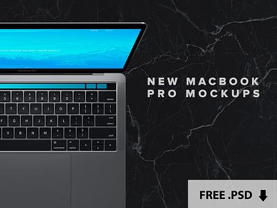 "New Macbook Pro 15"" Touchbar Free .PSD Mockups webdesign tools design photoshop macbook psd free ui apple mockup"