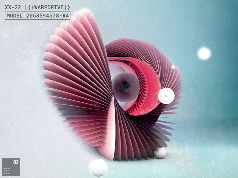EXPI ::/ Warpdrive // daily geometric shapes abstract space render cinema4d interface future 3d