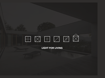 Light for Living Icons thin line light interior industrial icons house decoration architecture