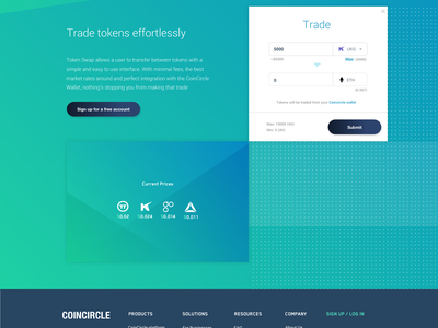 This is the End coin teal gradient footer decentralized token cryto blockchain