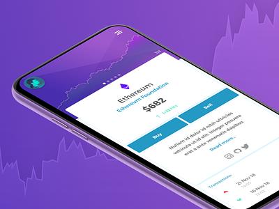 Crypto wallet - Token View transaction sell exchange market tokens fintech wallet blockchain ethereum crypto