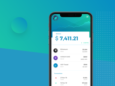 CC Wallet Update fintech exchange transaction ethereum ux ui app mobile tokens crypto blockchain