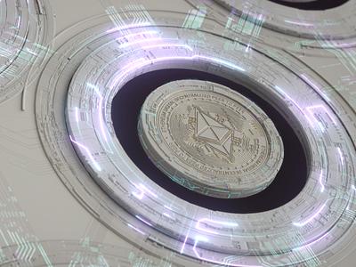 Ethereum decentralized network fintech technology motion graphics token ethereum decentralized network 3d crypto blockchain