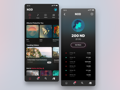 Content streaming blockchain app streaming spotify iphone ui app music mobile app interface design fintech crypto blockchain mobile ui  ux