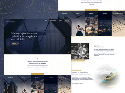 Industry Capital Site map topology navy gold land money investment straight fancy equity capital finance