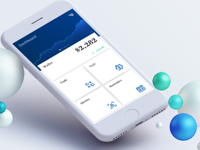 Finance app gradient finance business upwards graph bubbles market stocks dollars identity reminders vault finance fintech crypto ui blockchain