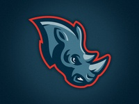 Rhinos Sportslogo Concept