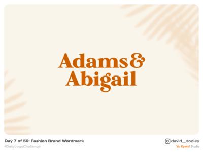 Daily Logo Challenge | Day 7 - Fashion Brand Wordmark