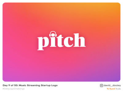 Daily Logo Challenge | Day 9 - Music Streaming Startup Logo logo design logo identity design identity design daily logo challenge branding