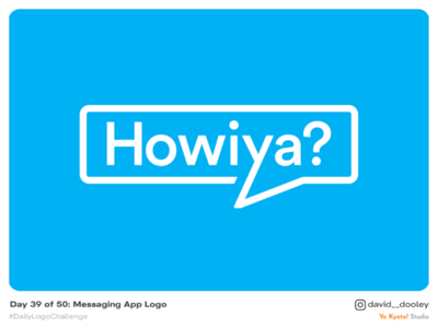 Daily Logo Challenge | Day 39 - Messaging App Logo logo design logo identity design identity design daily logo challenge branding