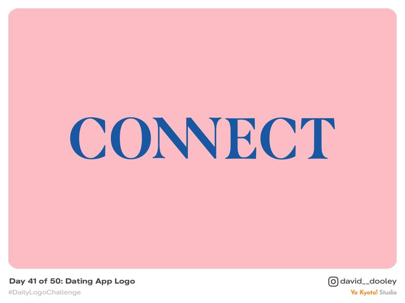 Daily Logo Challenge | Day 41 - Dating App Logo branding daily logo challenge design identity identity design logo logo design