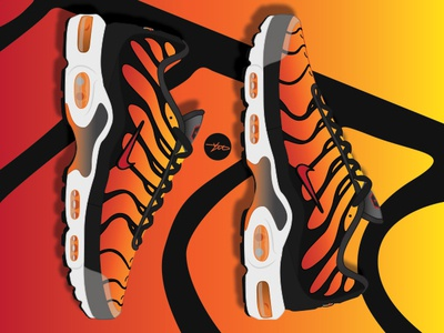 the latest 5d4ba 6dd22 Nike Air Max Plus Tn OG Tiger by Garbage Draws on Dribbble