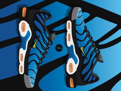 Nike Air Max Plus Tn OG Hyper Blue by Garbage Draws on Dribbble